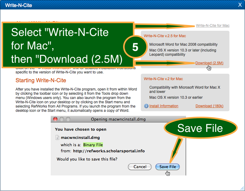 how to use refworks write and cite for mac