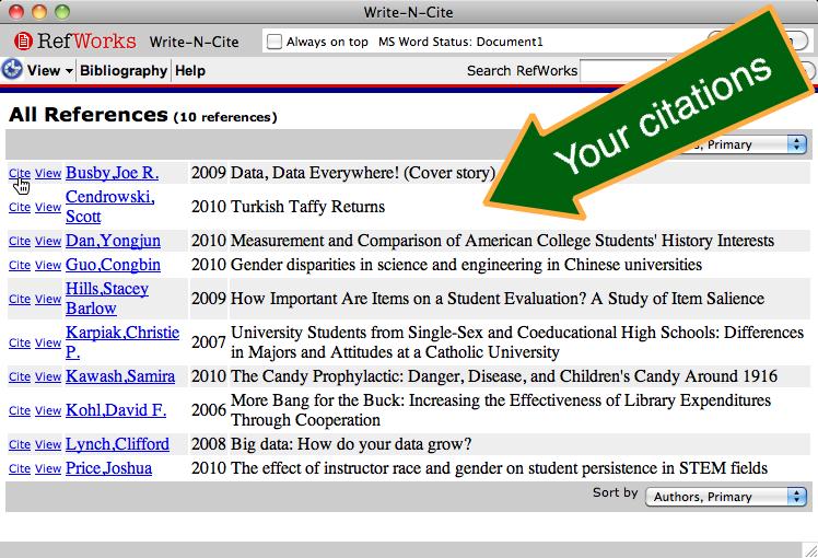 qmu write and cite mac