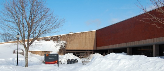 Robertson Library in Winter