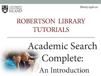 Academic Search Complete: An Introduction