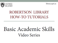 Basic Academic Skills Video Series