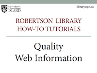 Find Quality Web Information