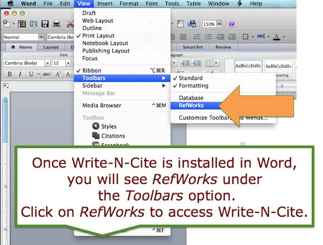 refworks write and cite for mac