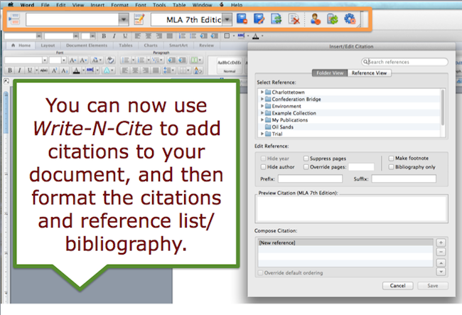 New RefWorks: Using Write-N-Cite for Microsoft Word to Write and Format Your Paper