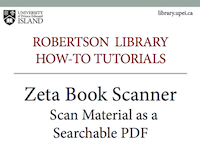 Zeta Book Scanner: Scan Material as a Searchable PDF