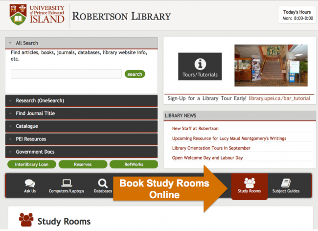 Robertson Library Group Study Rooms