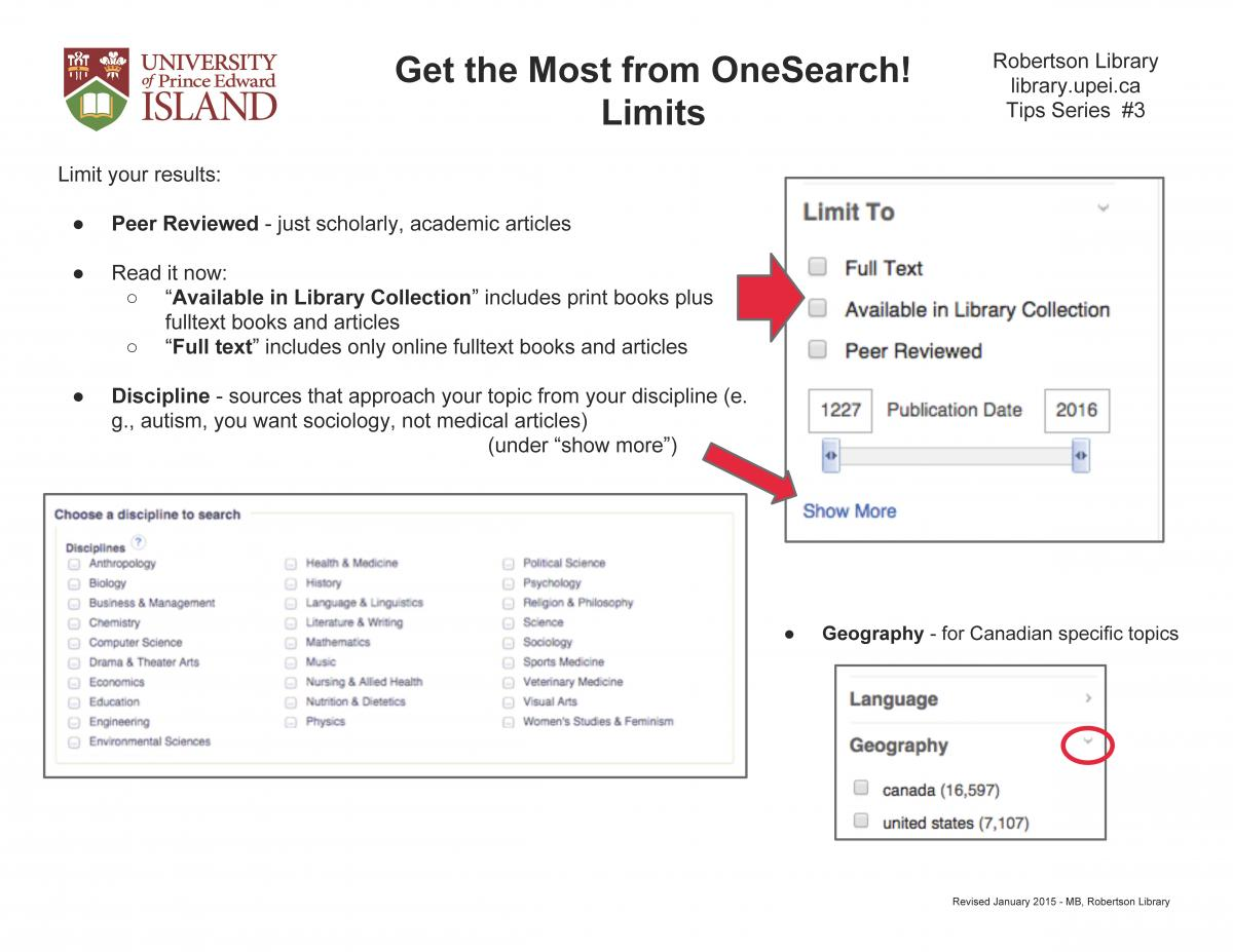 OneSearch limit examples