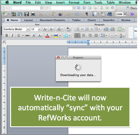 Write-n-Cite will sync with RefWorks