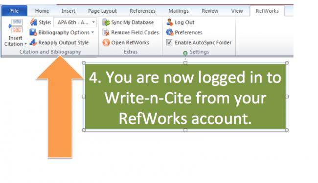tutorial write and cite login